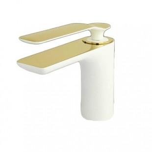 شیر روشویی سفید طلا راسان مدل ویولت