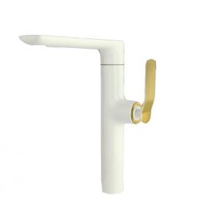 شیر سینک سفید طلا راسان مدل ویولت