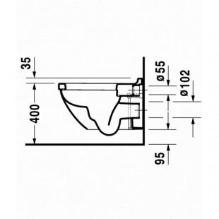 توالت فرنگی وال هنگ دوراویت Duravit مدل Starck 3 ساخت آلمان