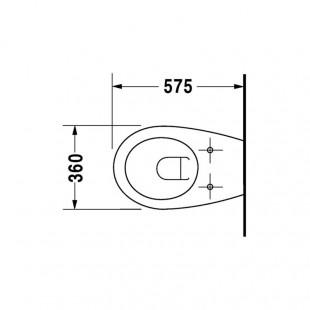 توالت فرنگی وال هنگ دوراویت Duravit مدل Colomba ساخت آلمان