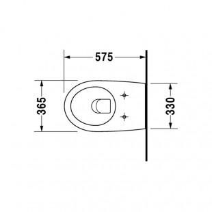 توالت فرنگی وال هنگ دوراویت Duravit مدل Architec ساخت آلمان