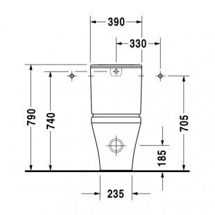 توالت فرنگی مخزن دار روکار دوراویت Duravit مدل Durastyle