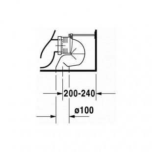 توالت فرنگی مخزن دار روکار دوراویت Duravit مدل Starck 3