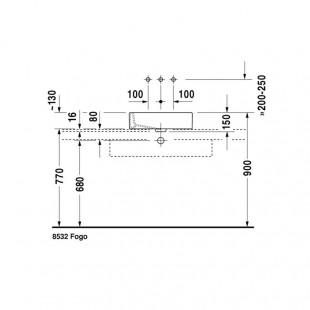 کاسه روشویی دوراویت DURAVIT مدل Vero ساخت آلمان