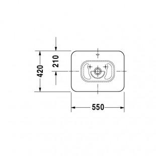 کاسه روشویی دوراویت DURAVIT مدل Bacino ساخت آلمان
