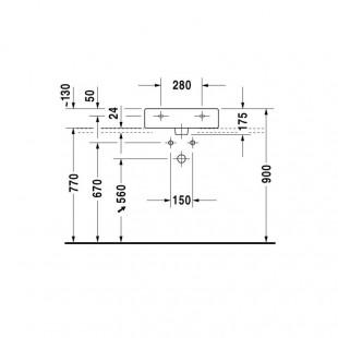 کاسه روشویی دوراویت DURAVIT مدل Vero ساخت آلمان سایز 47×50 cm