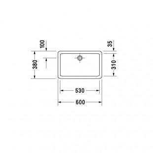 کاسه روشویی دوراویت DURAVIT مدل Vero ساخت آلمان سایز 38×60 cm