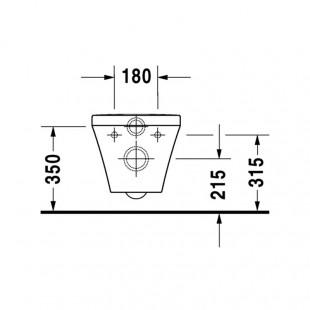 توالت فرنگی وال هنگ دوراویت Duravit مدل Durastyle ساخت آلمان سایز 37×54 cm