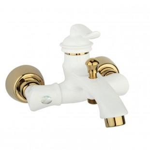 شیر حمام سفید طلا ارال مدل لاروس