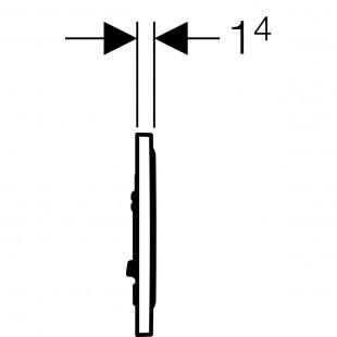 کلید فلاش تانک توکار سیگما مدل 20