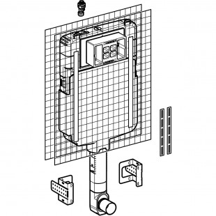 فلاش تانک توکار وال هنگ Alpha 8cm-back to wall