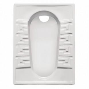 توالت زمینی مروارید مدل رومینا کوچک تخت