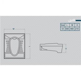 توالت زمینی گلسار مدل گلایل