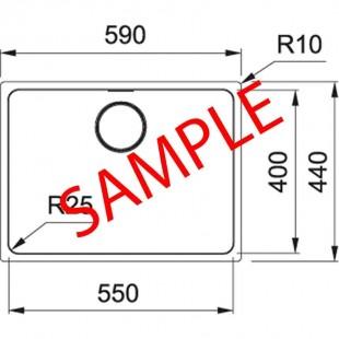 سینک روکار اخوان مدل 10050-6CR