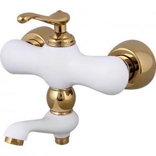 شیر دوش کرومات مدل ماموت سفید طلایی