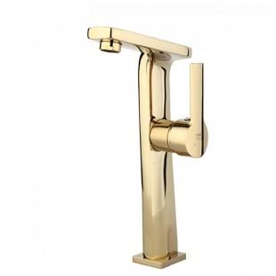 شیر روشویی پایه بلند راسان مدل دنیس طلا