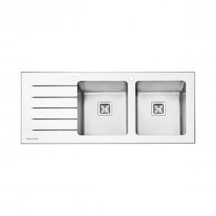 سینک شیشه ای پرنیان استیل مدل PS 4106 W سفید