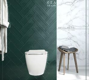 توالت فرنگی دیواری GEA مدل SENTIMENTI