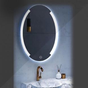 آینه چراغ دار بیضی کد FK-316