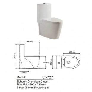 توالت فرنگی لوتوس مدل LT-727