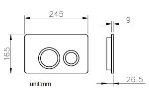 صفحه کلید فلاش تانک توکار جاستایم کد 6373-K2