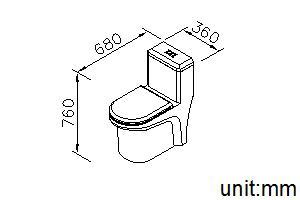 توالت فرنگی جاستایم کد 6370-G3