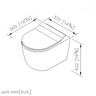 توالت فرنگی وال هنگ جاستایم کد 6371-A0