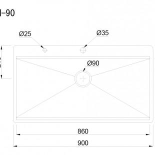 سینک باکسی کن مدل BCN 90