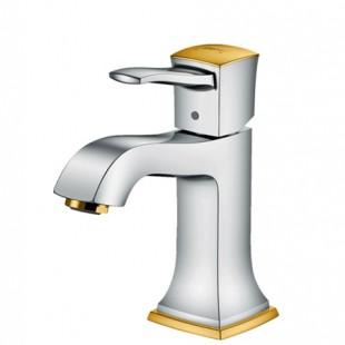 شیر روشویی هانس گروهه مدل Metropol Classic کروم-طلایی