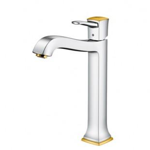 شیر روشویی پایه بلند هانس گروهه مدل Metropol Classic کروم طلایی
