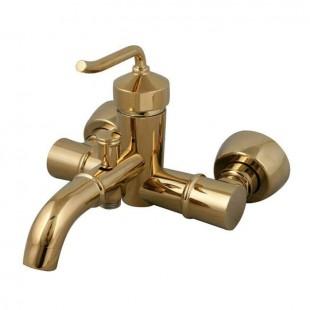 شیر دوش(حمام) کرومات مدل طلاییفلاور
