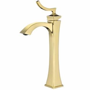 شیر روشویی پایه بلند کرومات مدل پالادیوم طلایی