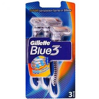 خود تراش 3 تیغه (3 تایی) ژیلت ، بلو تری(Blue3)