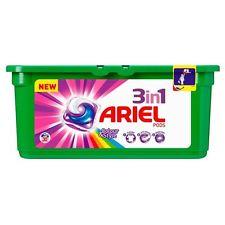 قرص ژله ای  لباسشویی مخصوص لباس های رنگی 28تایی آریل (Ariel)