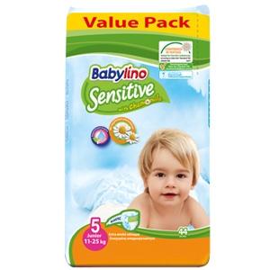 پوشك44 تايي ضدحساسيت بيبي لينو سايز5 (Babylino sensitive)