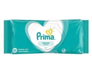 دستمال مرطوب  ضد حساسیت پریما 52عددی