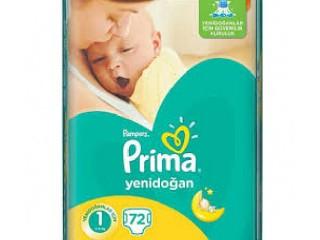 پریما پمپرز سایز یک 72 عددی