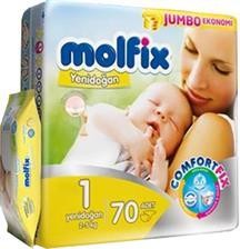 مولفیکس ترک سایز 1/ 70 تایی با دستمال مرطوب