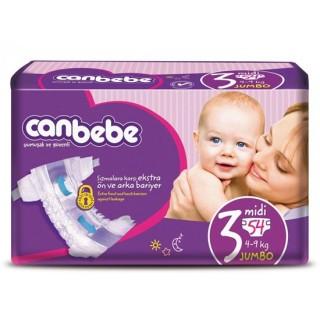 جان ب ب سايز 3/ بسته 54 تايي ( Canbebe)