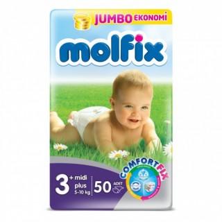 مولفیکس ترك سايز +3 /  50 تايي  molfix