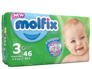 مولفيكس3/ 46تايي با دستمال مرطوب