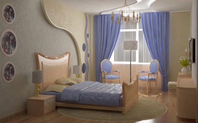 طراحی اتاق خواب با روتختی مناسب