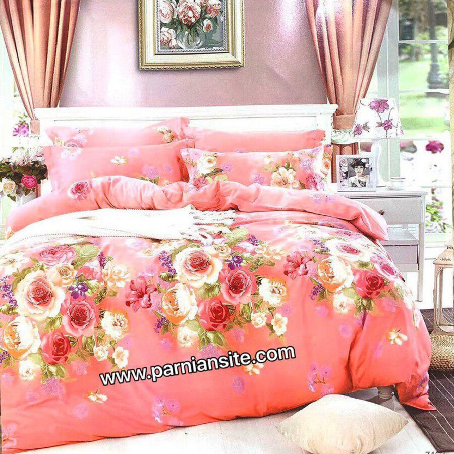روتختی گلدار هلویی شاد کد 750