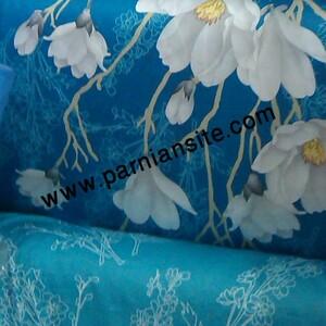 روتختی آبی فیروزه ای گلدار کد 117