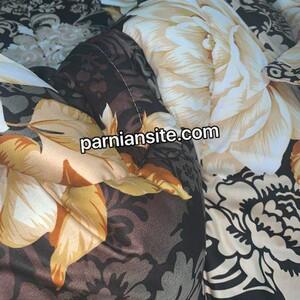 روتختی سبزابی و گلدار صورتی کد 755