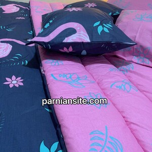 flamingo bed sheet