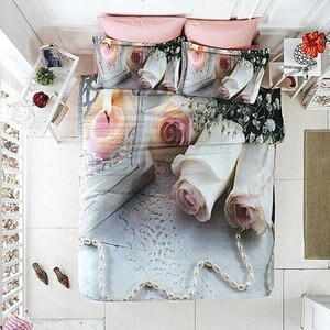 روتختی سه بعدی دونفره white roses