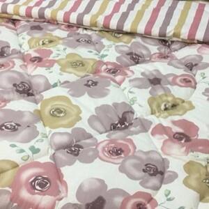 روتختی کد 707 گلدار سفید و ارکیده ای رنگ