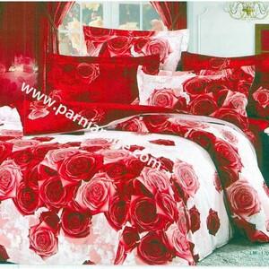 روتختی سفید و قرمز گلدار کد110