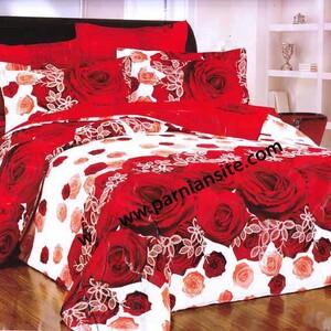 روتختی سفید قرمز گلدار کد 120
